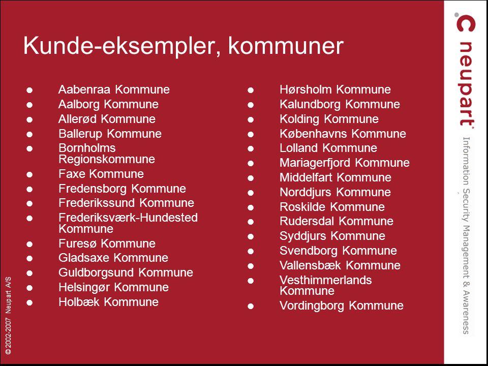 Kunde-eksempler, kommuner
