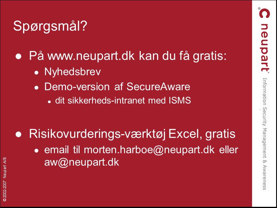 Spørgsmål På www.neupart.dk kan du få gratis: