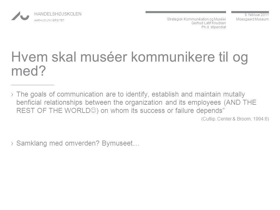 Hvem skal muséer kommunikere til og med