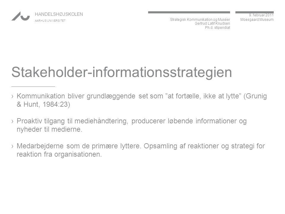 Stakeholder-informationsstrategien