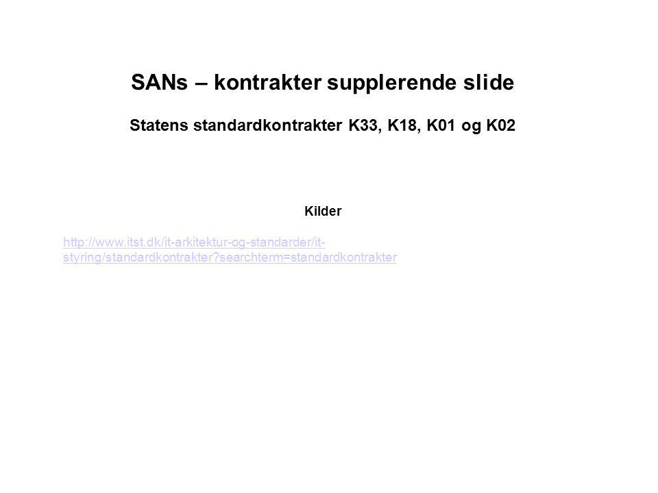 SANs – kontrakter supplerende slide