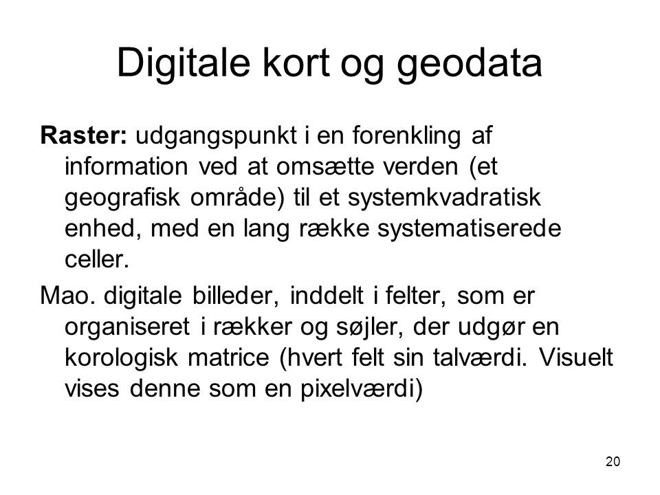 Digitale kort og geodata