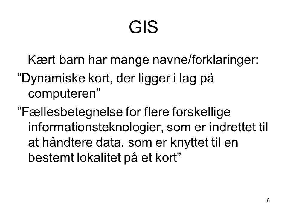 GIS Kært barn har mange navne/forklaringer: