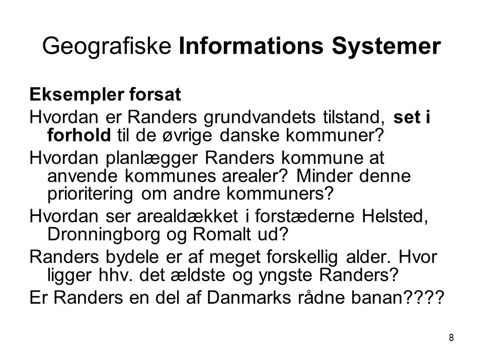 Geografiske Informations Systemer