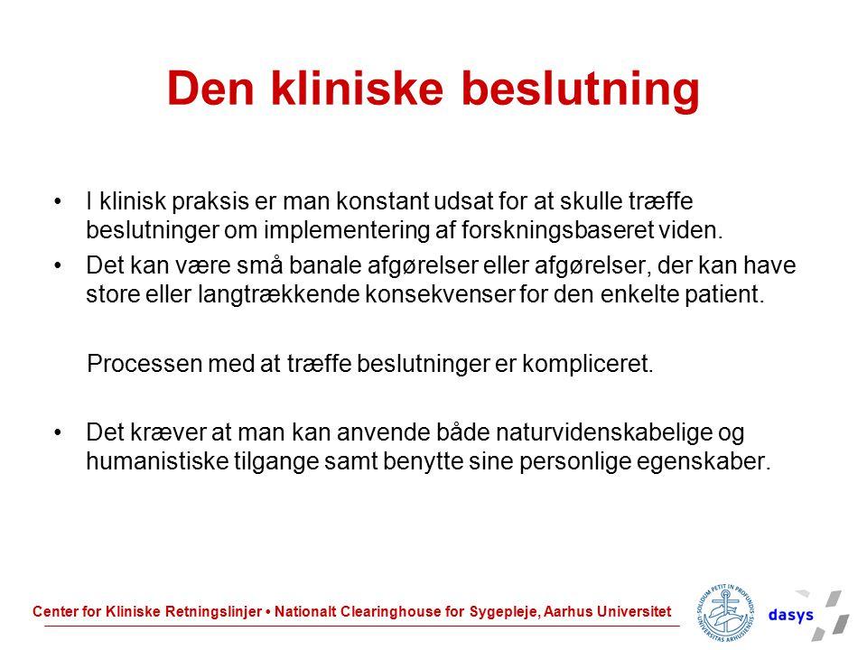 Den kliniske beslutning
