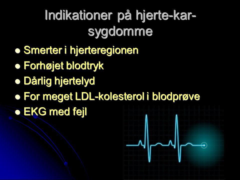 Indikationer på hjerte-kar-sygdomme