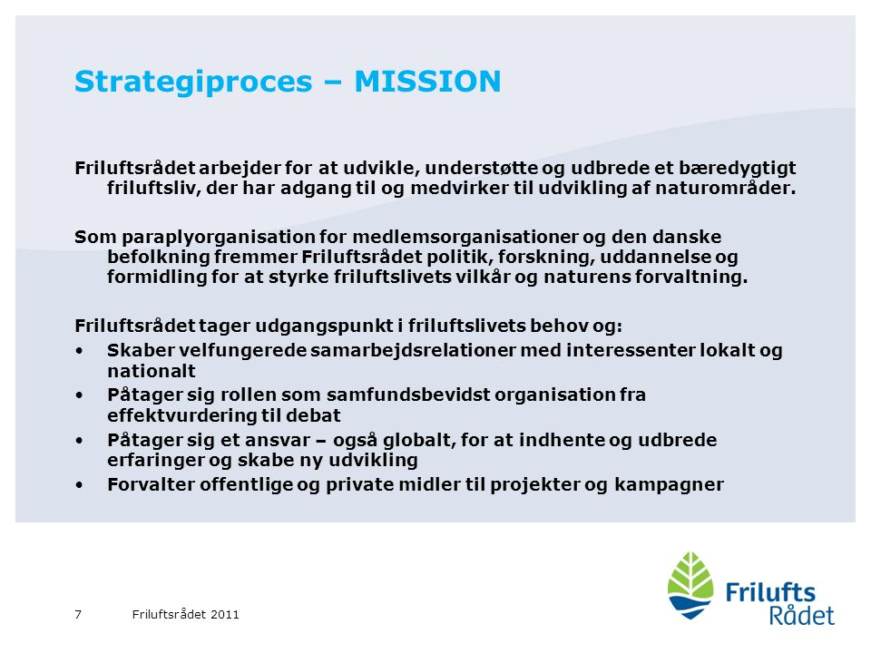 Strategiproces – MISSION