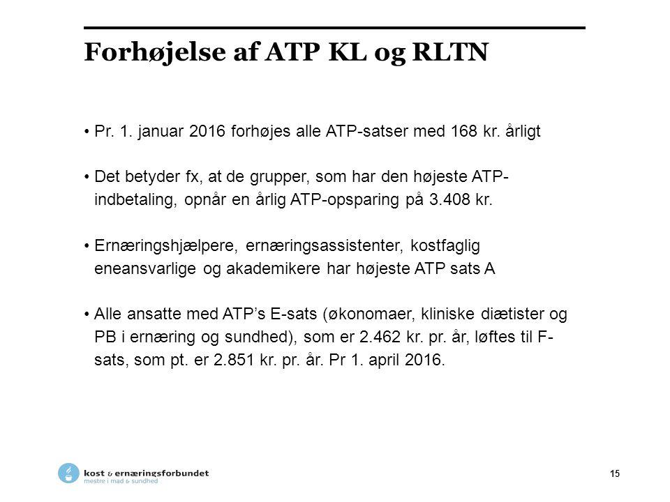 Forhøjelse af ATP KL og RLTN