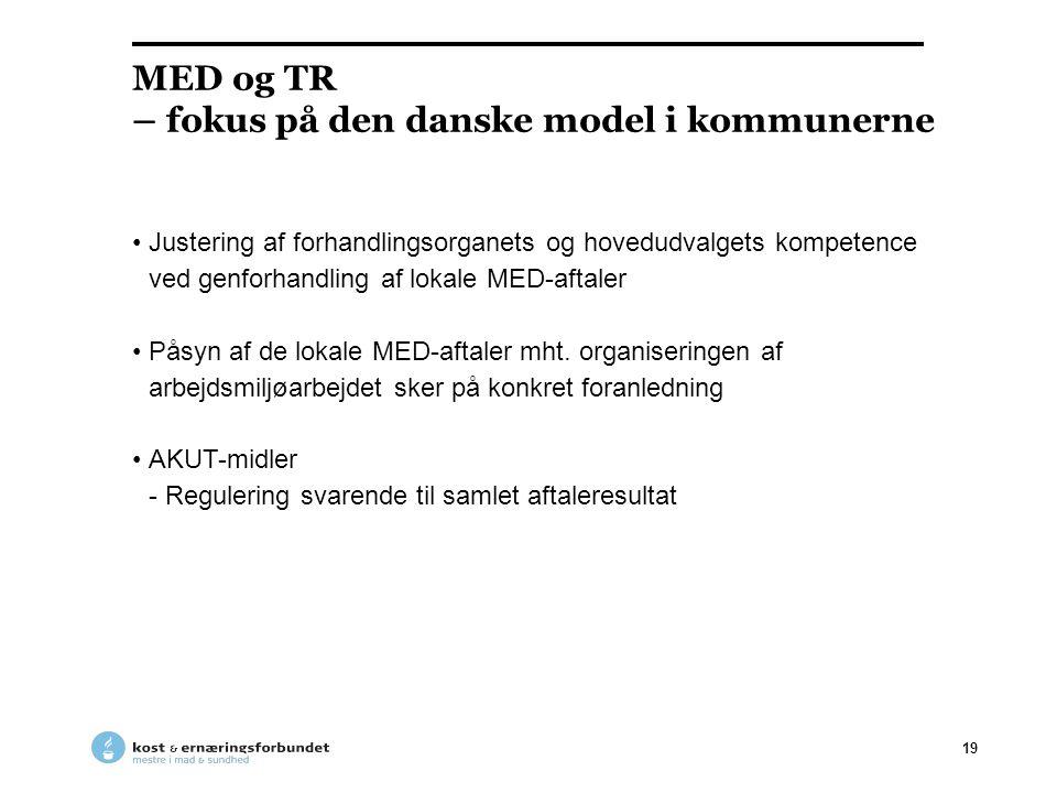 MED og TR – fokus på den danske model i kommunerne