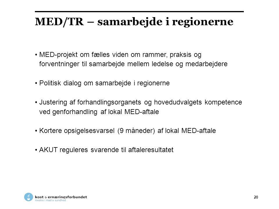 MED/TR – samarbejde i regionerne