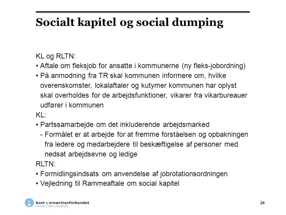 Socialt kapitel og social dumping