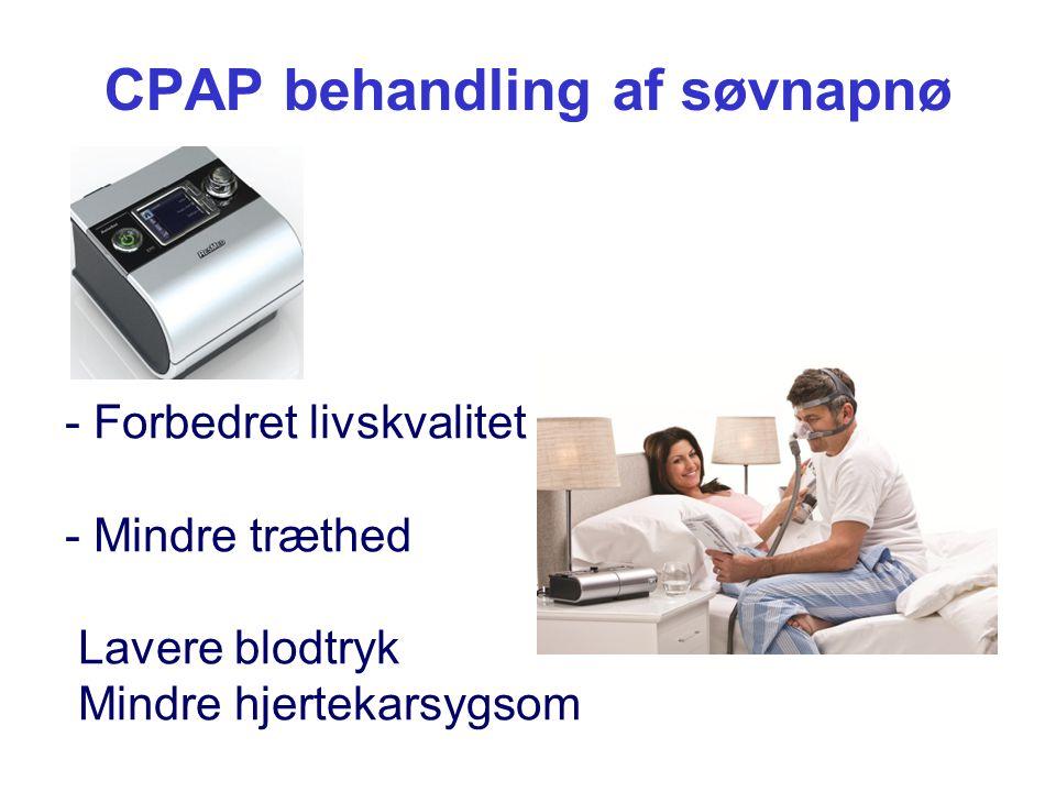 CPAP behandling af søvnapnø