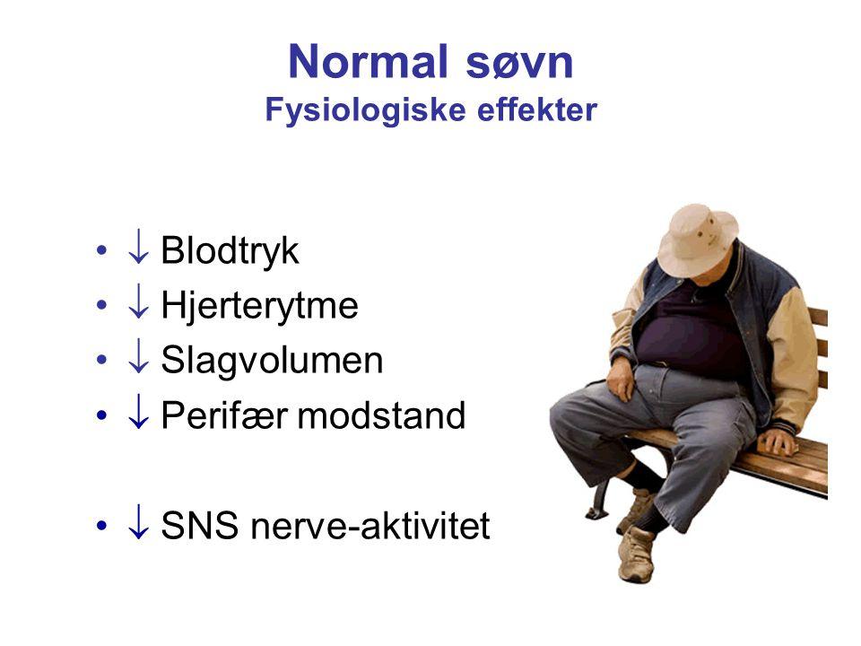 Normal søvn Fysiologiske effekter