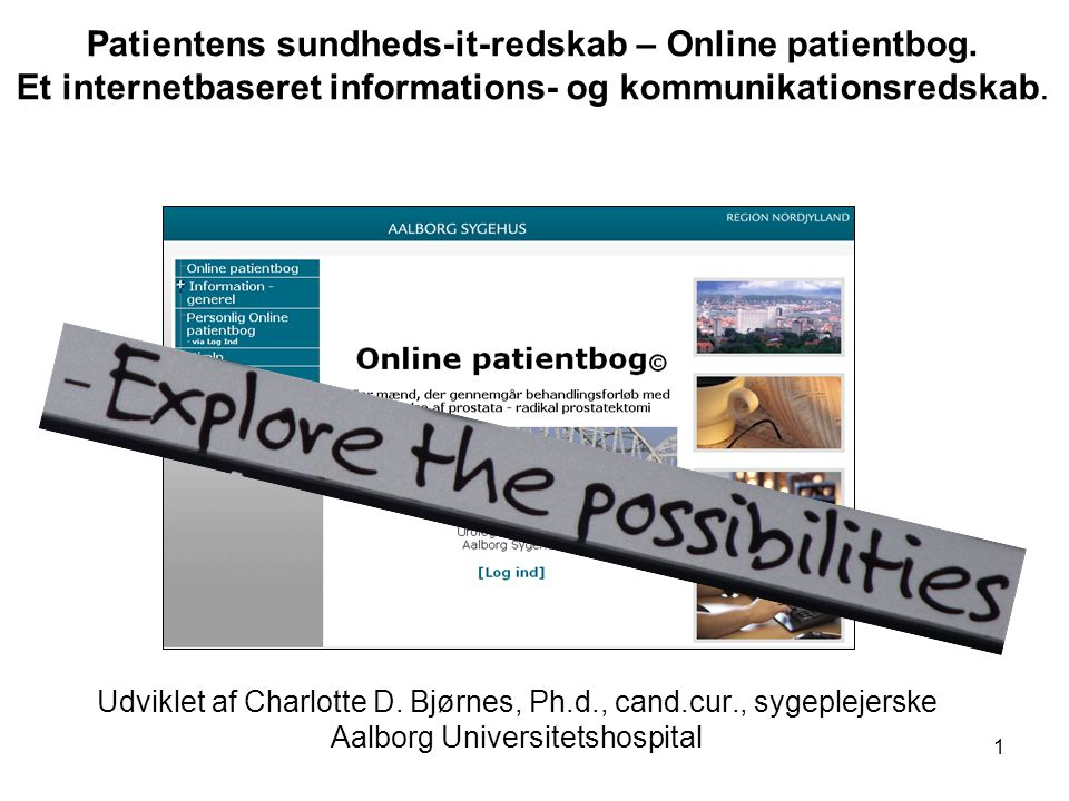 Patientens sundheds-it-redskab – Online patientbog