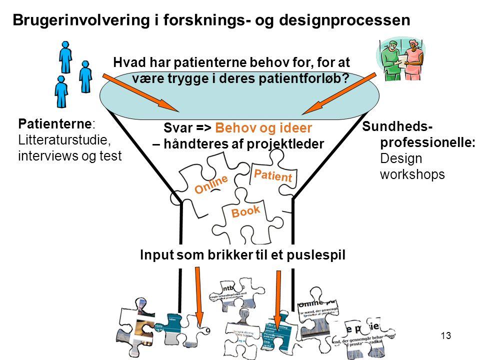 Brugerinvolvering i forsknings- og designprocessen