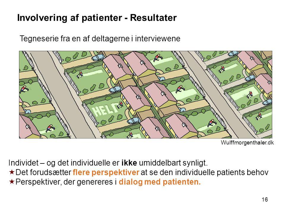 Involvering af patienter - Resultater