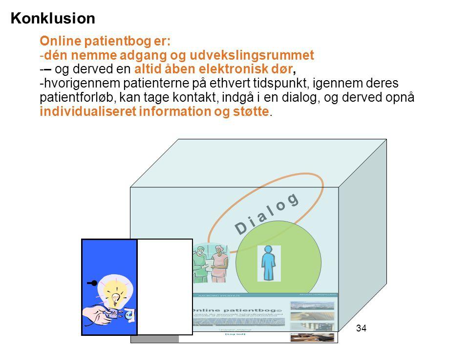 Konklusion D i a l o g Online patientbog er: