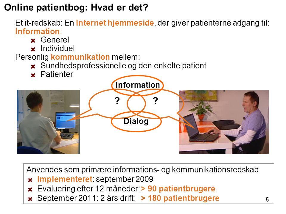 Online patientbog: Hvad er det