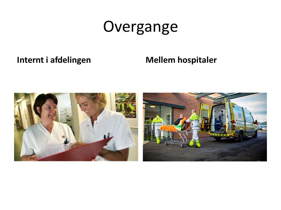 Overgange Internt i afdelingen Mellem hospitaler