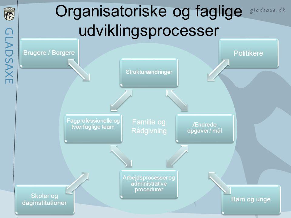 Organisatoriske og faglige udviklingsprocesser