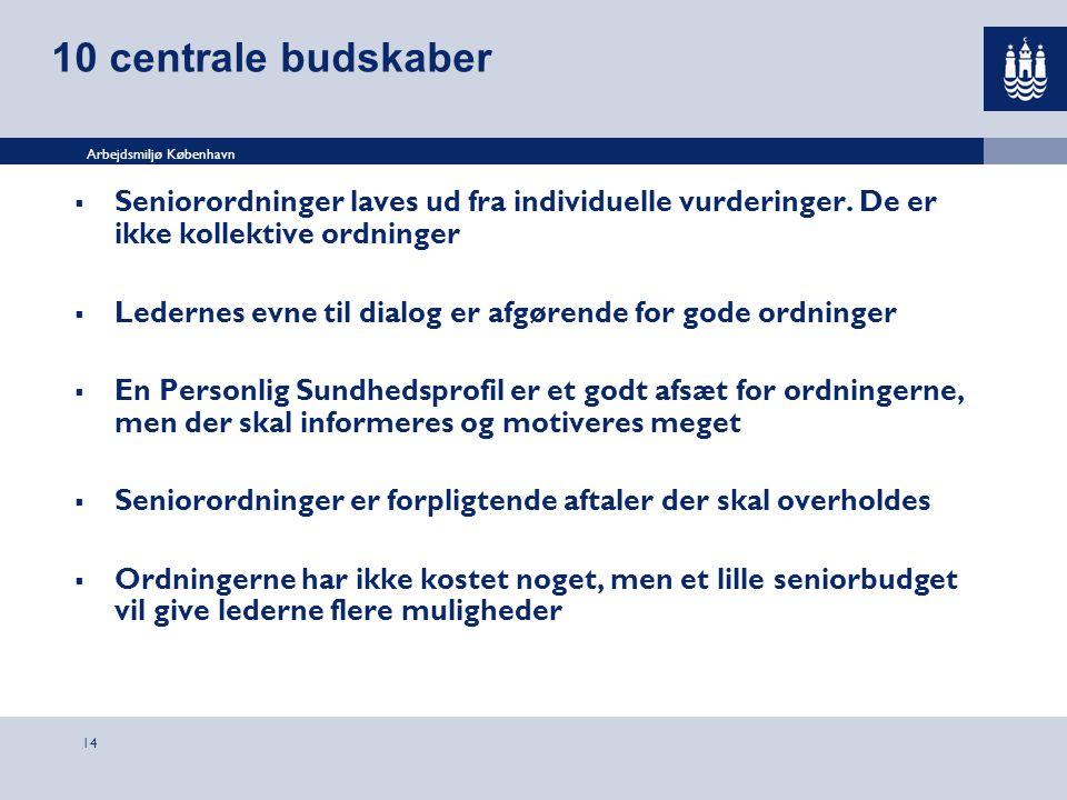 10 centrale budskaber Seniorordninger laves ud fra individuelle vurderinger. De er ikke kollektive ordninger.
