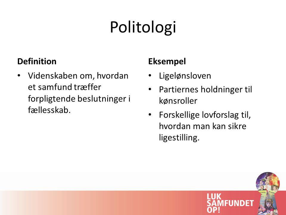 Politologi Definition Eksempel