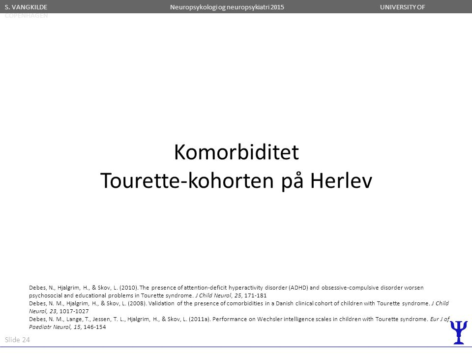 Komorbiditet Tourette-kohorten på Herlev