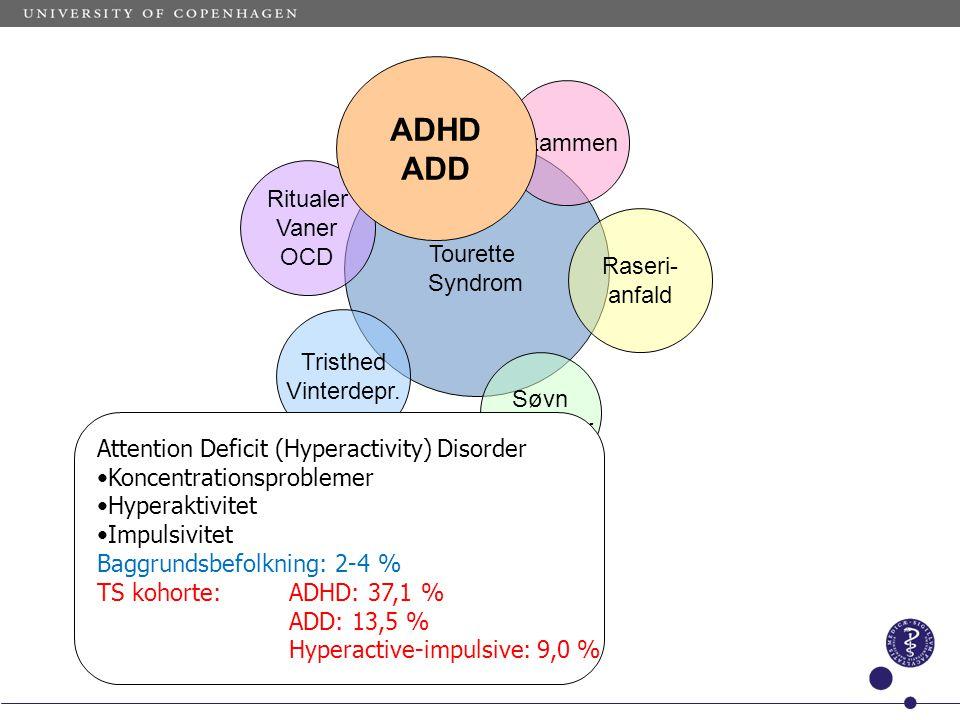 ADHD ADD Stammen Ritualer Vaner Tourette OCD Syndrom Raseri- anfald