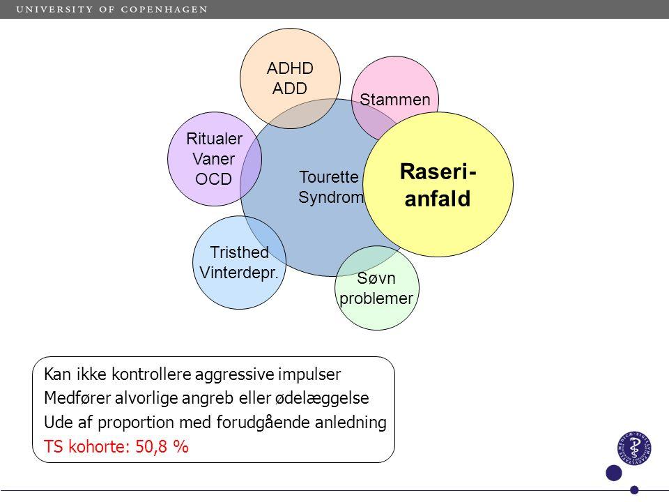 Raseri- anfald ADHD ADD Stammen Ritualer Vaner Tourette OCD Syndrom
