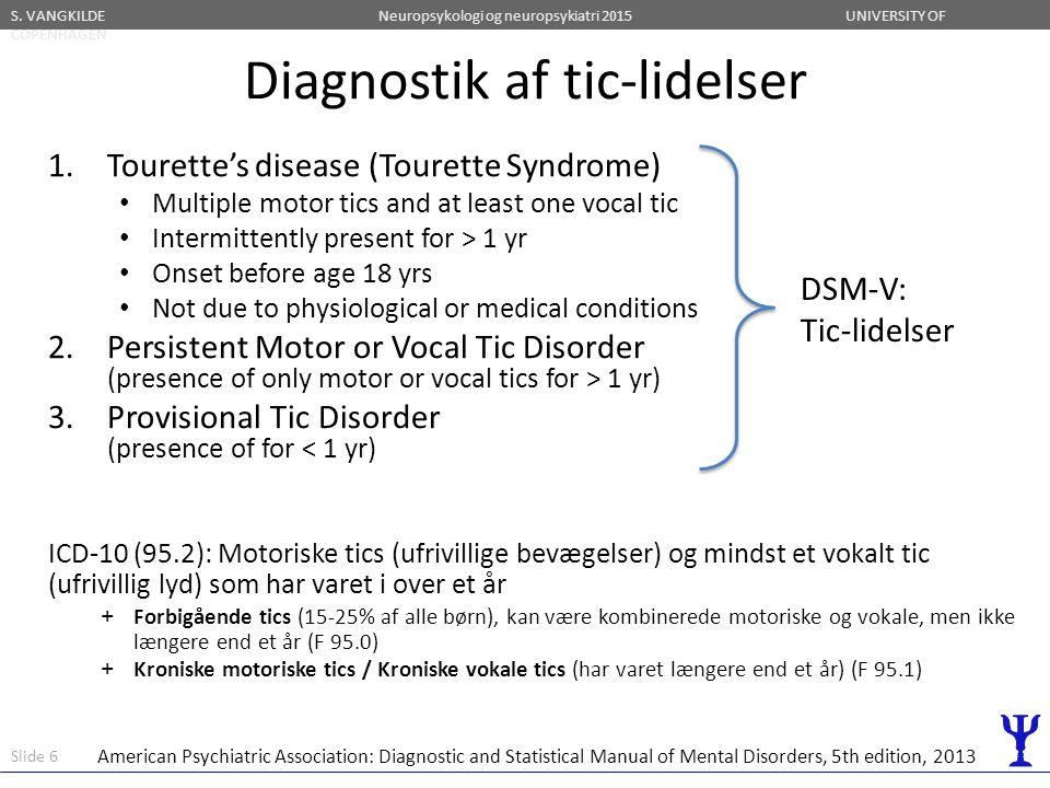 Diagnostik af tic-lidelser