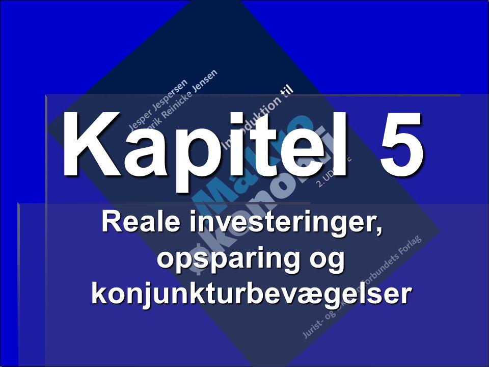 Reale investeringer, opsparing og konjunkturbevægelser