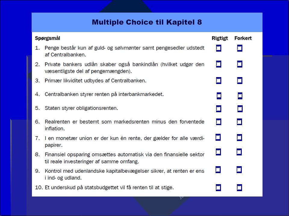 Multiple Choice til Kapitel 8