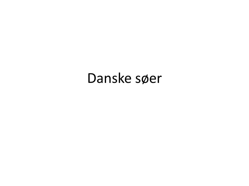 Danske søer