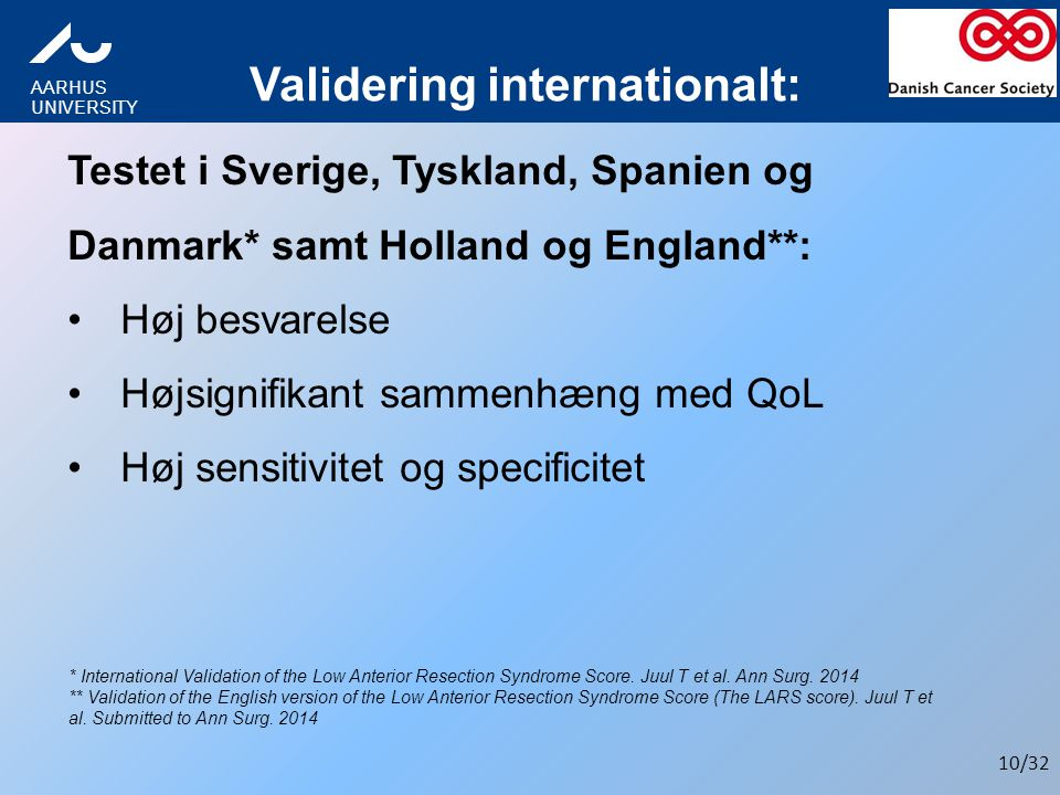 Validering internationalt: