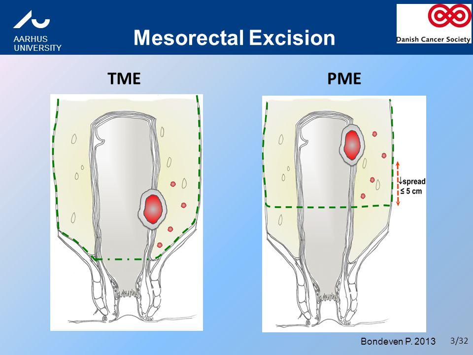 Mesorectal Excision TME PME Bondeven P. 2013