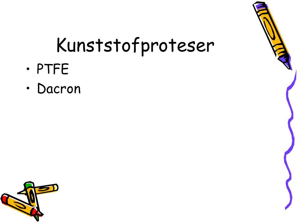 Kunststofproteser PTFE Dacron
