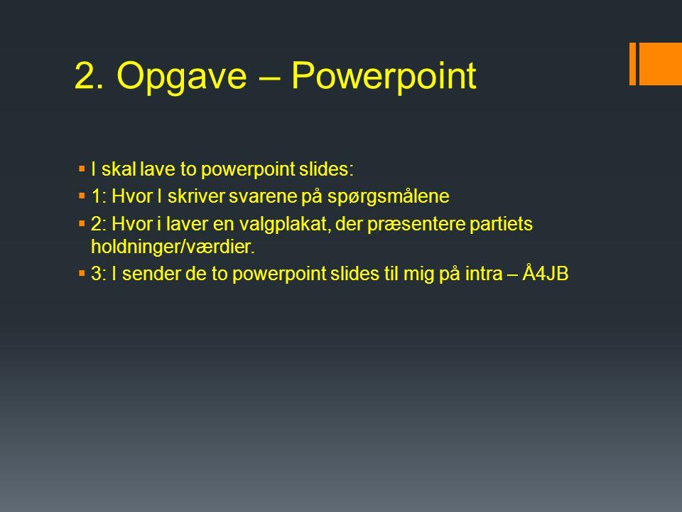 hedder det en eller et powerpoint