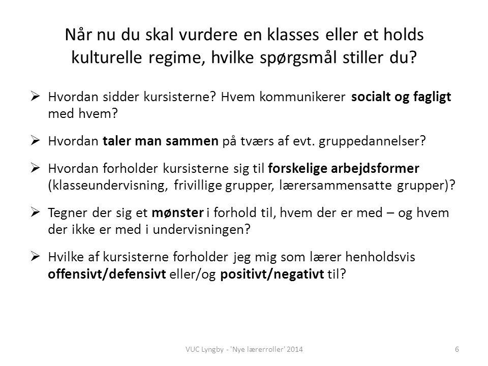 VUC Lyngby - Nye lærerroller 2014
