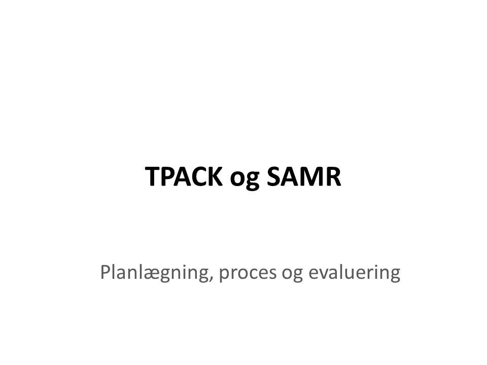 Planlægning, proces og evaluering