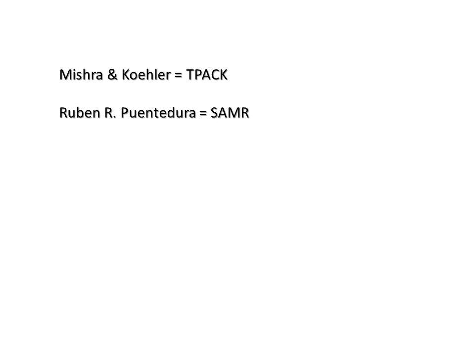 Mishra & Koehler = TPACK