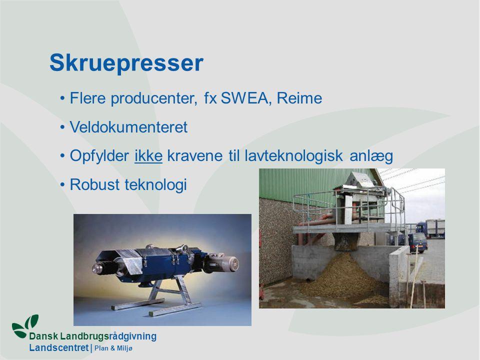 Skruepresser Flere producenter, fx SWEA, Reime Veldokumenteret