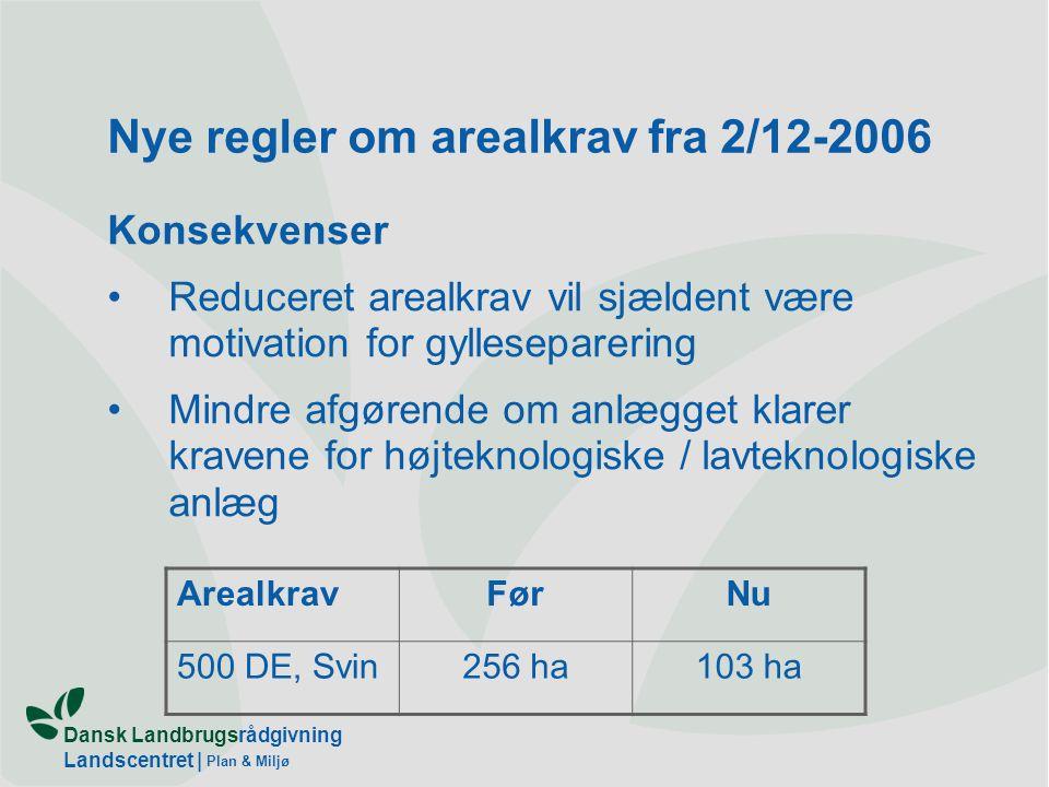 Nye regler om arealkrav fra 2/12-2006