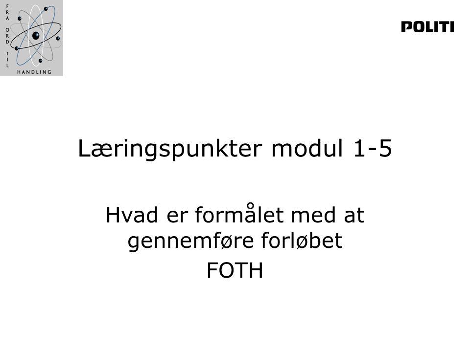 Læringspunkter modul 1-5