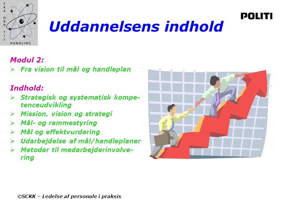 Uddannelsens indhold Modul 2: Indhold: