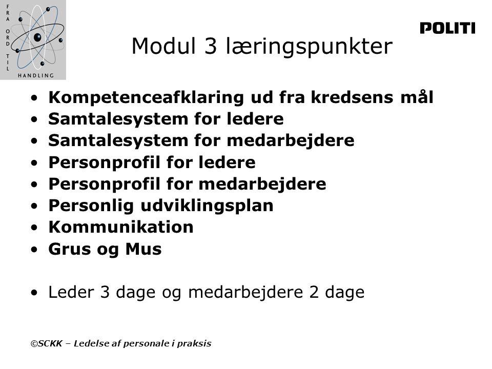 Modul 3 læringspunkter Kompetenceafklaring ud fra kredsens mål
