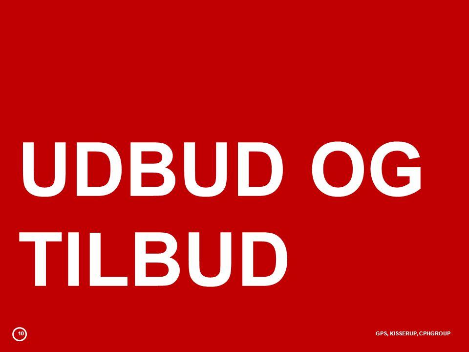 UDBUD OG TILBUD 10 GPS, KISSERUP, CPHGROUP