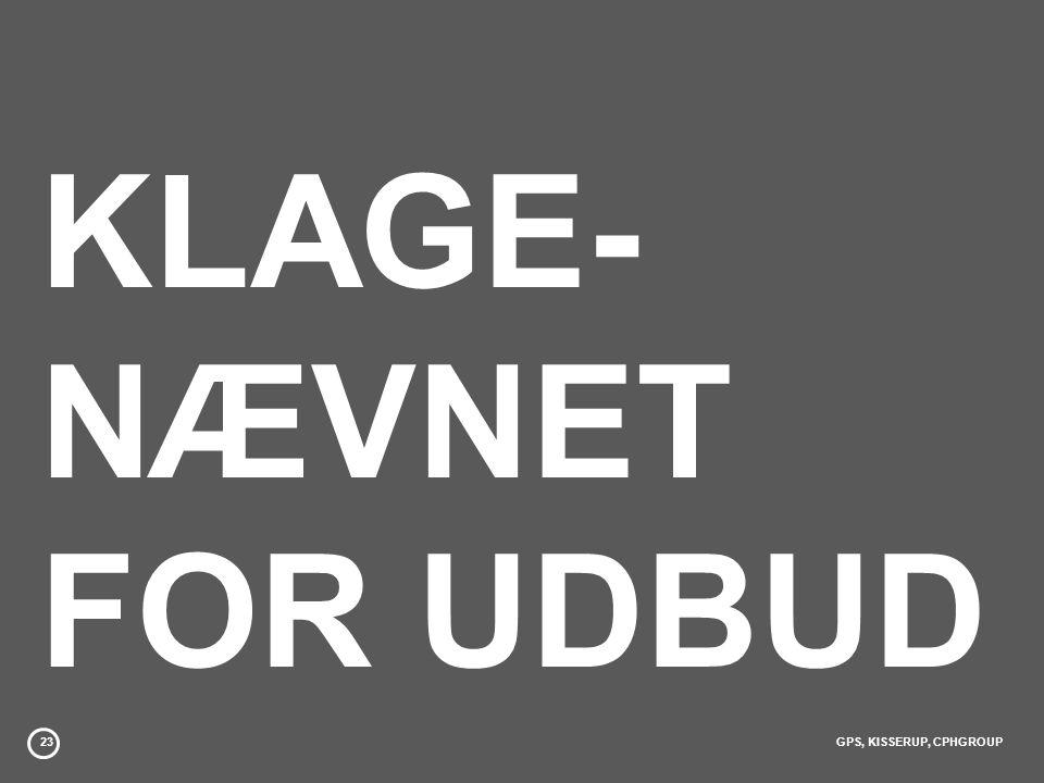 KLAGE- NÆVNET FOR UDBUD