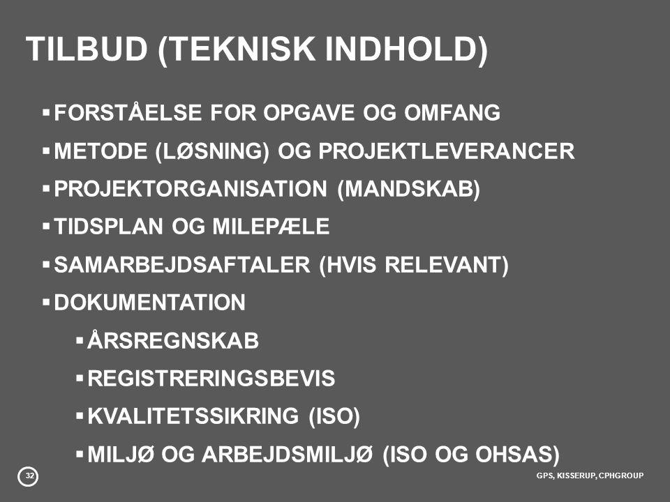 TILBUD (TEKNISK INDHOLD)