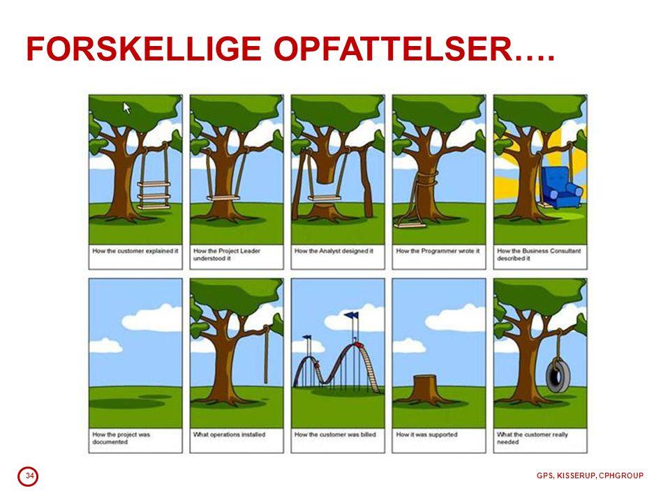 FORSKELLIGE OPFATTELSER….