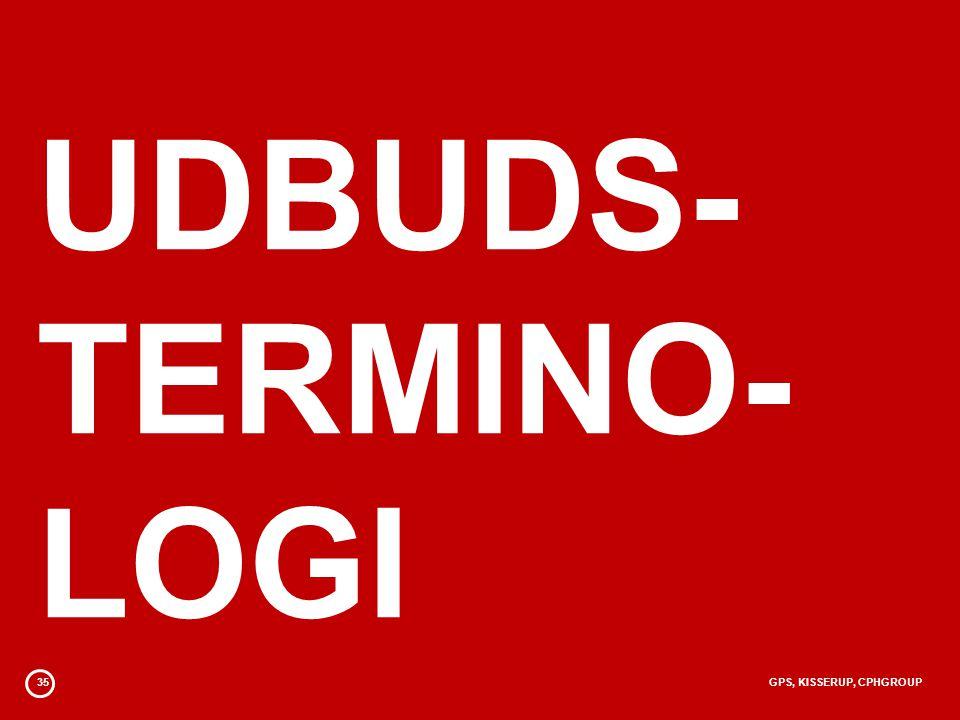 UDBUDS- TERMINO- LOGI 35 GPS, KISSERUP, CPHGROUP